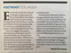 Voetnoot Grunberg Volkskrant